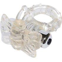 Виброкольцо прозрачный 7 Speed Butterfly Cock Ring 32008-clearHW, цвет прозрачный - Aphrodisia