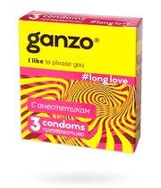 Презервативы Ganzo Long Love №3 продлевающие, 3 шт. - Ganzo