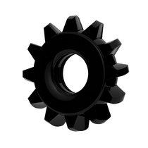 Чёрное эрекционное кольцо для пениса Power Plus, цвет черный - LoveToy
