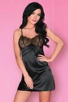 Элегантная сорочка Emiliana, цвет черный, L-XL - Livia Corsetti