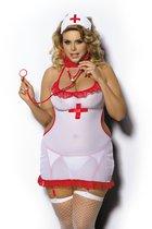 """Игровой костюм """"Медсестра Shine"""", цвет белый, 5XL-6XL - Gorgeous+"""