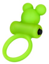 Зеленое виброкольцо на пенис A-Toys, цвет зеленый - Toyfa