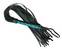 Плеть, голографическая рукоятка из кожи, 63 см, цвет черный - Sitabella