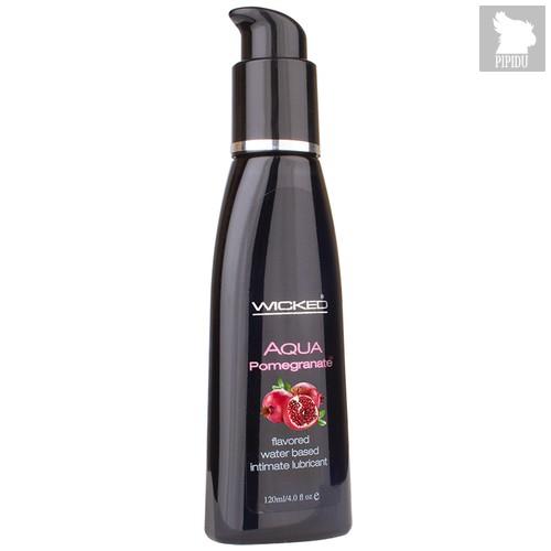 Лубрикант Wicked Aqua Pomegranate со вкусом граната, 120 мл - Wicked