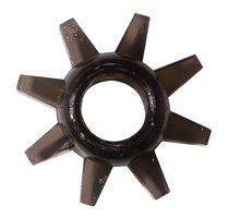 Чёрное эрекционное кольцо Rings Cogweel, цвет черный - Lola Toys
