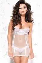Сорочка Mila, цвет белый, 2XL-3XL - Me Seduce