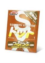 Презерватив Sagami Xtreme FEEL UP с точечной текстурой и линиями прилегания - 1 шт. - Sagami