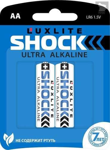 Батарейки Luxlite Shock (BLUE) типа АА - 2 шт. - LUXLITE