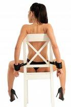 Черные наручники с креплением к стулу, цвет черный - МиФ
