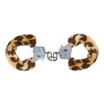 Наручники с леопардовым мехом Furry Fun Cuffs Leopard, цвет леопард - Toy Joy