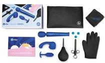 Большой набор для анальных игр из 10 предметов Anal Massage & Education Set, цвет синий/черный - B-vibe