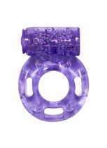 Фиолетовое эрекционное кольцо с вибрацией Rings Axle-pin, цвет пурпурный - Lola Toys