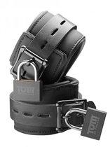 Неопреновые запястники с замком Tom of Finland Neoprene Wrist Cuffs, цвет черный - XR Brands