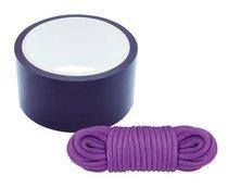 Комплект для связывания BONDX BONDAGE RIBBON LOVE ROPE PURPLE, цвет фиолетовый - Dream toys