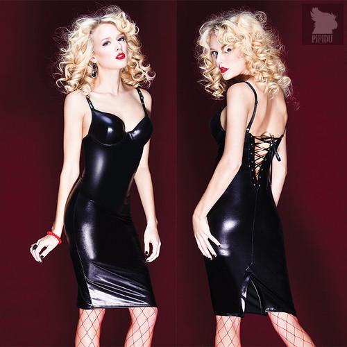 Платье Donna со шнуровкой на спине, цвет черный, M - Coquette Internatonal