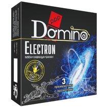 Ароматизированные презервативы Domino Electron - 3 шт. - LUXLITE