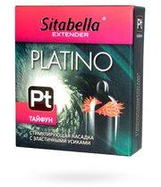 Стимулирующая насадка с шипиками по бокам Platino Тайфун - Sitabella