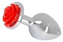 Серебристая втулка с красной розочкой в основании - 9 см, цвет красный - ORION