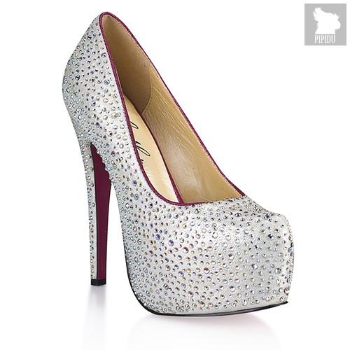 Туфли Jewelry, с серебристыми кристаллами, цвет серебряный - Hustler Shoes