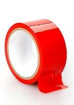 Красная лента для связывания Bondage Tape Red, цвет красный - Shots Media