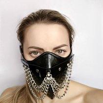 "Чёрная маска на нижнюю часть лица ""Шахерезада"", цвет черный - Sitabella"