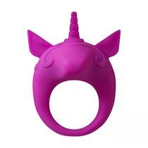 Фиолетовое эрекционное кольцо Unicorn Alfie, цвет фиолетовый - Lola Toys
