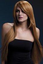 Рыжеватый парик с косой чёлкой Amber, цвет оранжевый - Fever