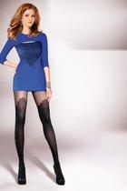 Соблазнительные колготки Demi с имитацией чулок, цвет черный, размер 4 - Gabriella