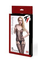 Кетсьюит-сетка с имитацией корсетной шнуровки и подвязок Femme Fatale - Femme Fatale