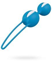 Вагинальные шарики Smarts Duo - Bright Blue, цвет белый/голубой - Fun factory
