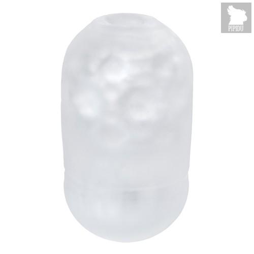 Японский мастурбатор Capsule Party прозрачный с выпуклыми точками, цвет белый - Men's max