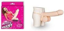 Телесный надувной пенис с фиксацией JOLLY BOOBY INFLATABLE PENIS - 53 см, цвет телесный - Nanma (NMC)