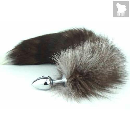 """Анальная пробка """"Королевский хвост"""", цвет серебряный - Luxurious Tail"""