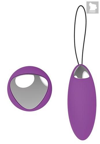 Фиолетовое перезаряжаемое виброяйцо Remote Duo Pleasure, цвет фиолетовый - Dream toys