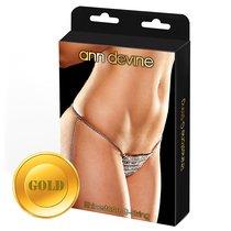Трусики-стринги из золотистых кристаллов Rhinestone G-String, цвет золотой - Ann Devine