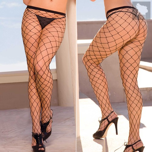 Колготки Fencenet Pantyhose, цвет черный, S-L - Electric Lingerie