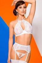 Изысканный комплект с поясом Catalina, цвет белый, L-XL - Avanua