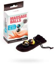 Стеклянные вагинальные массажные шарики, цвет разноцветный - Sitabella