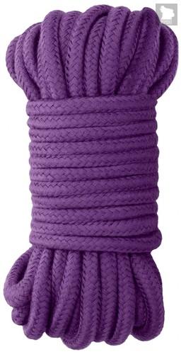 Фиолетовая веревка для бондажа Japanese Rope - 10 м., цвет фиолетовый - Shots Media