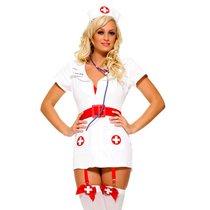 "Костюм ""Похотливая медсестра"", цвет белый, S-M - Le Frivole"