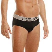 Брифы Hustler на широкой резинке из микрофибры, цвет черный, XL - Hustler Lingerie