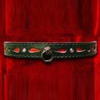 Ошейник декоративный со стразами и колечком, цвет черный - Подиум