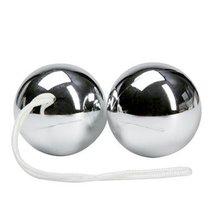 Серебристые вагинальные шарики Balls, цвет серебряный - Bioritm