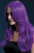 Сиреневый парик с длинной челкой Khloe, цвет сиреневый, S-L - Fever