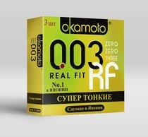 Сверхтонкие плотно облегающие презервативы Okamoto 003 Real Fit - 3 шт. - Okamoto