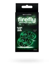 Вагинальные яички для тренировок Кегеля, стеклянные Firefly Glass - Kegel Eggs - Clear, цвет прозрачный - NS Novelties