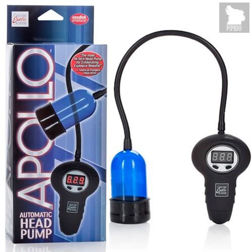 Помпа для головки Apollo - Automatic Head Pump автоматическая, цвет голубой - California Exotic Novelties