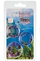 Набор из трех фиолетовых колец разного размера Island Rings, цвет фиолетовый - California Exotic Novelties