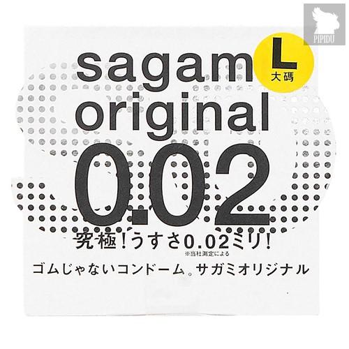 Презервативы Sagami №1 Original 0.02 L-size -1 уп (1 шт), цвет телесный - Sagami