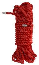 Красная веревка DELUXE BONDAGE ROPE - 10 м., цвет красный - Dream toys